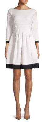Eliza J Three-Quarter Sleeve Fit-&-Flare Dress