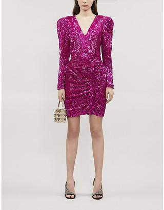 Lavish Alice Sequin-embellished mini dress