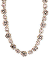 Marchesa Gold-Tone Crystal Cluster and Stone Collar Necklace