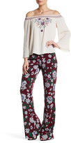 Flying Tomato Floral Flared Leg Pants