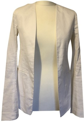 Theory White Linen Jackets
