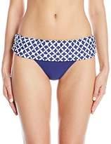 Athena Women's Coastal Geo Banded Bikini Bottom
