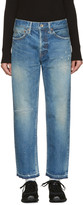 Chimala Blue Distressed Selvedge Jeans