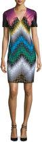 Missoni Short-Sleeve V-Neck Sheath Dress