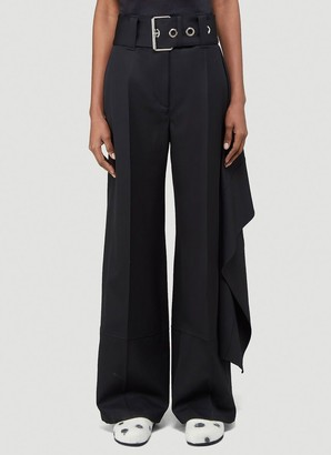 J.W.Anderson Belted Draped Wide Leg Pants