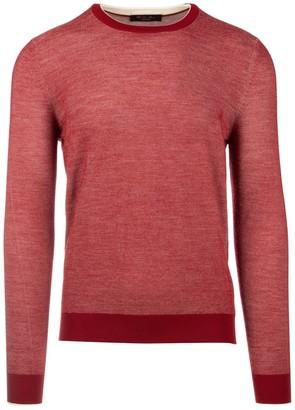 Loro Piana Two-Tone Jacquard Crewneck Sweater