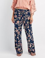 Charlotte Russe Floral Drawstring Palazzo Pants