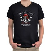 Eddany The beatings will continue until morale improves! V-Neck T-Shirt