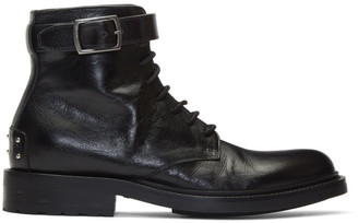 Saint Laurent Black Army Laced Boots