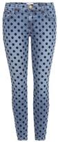 Current/Elliott The Stiletto polka-dot cropped skinny jeans