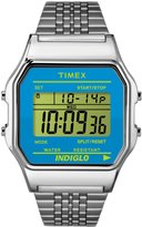 Timex #TW2P65200 Women's Indiglo Stainless Steel Dial Digital Watch
