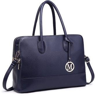 Miss Lulu Women Adjustable Handbags Designer Shoulder Tote Bag Large For Work (Navy)