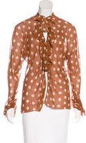 John Galliano Silk Polka Dot Blouse