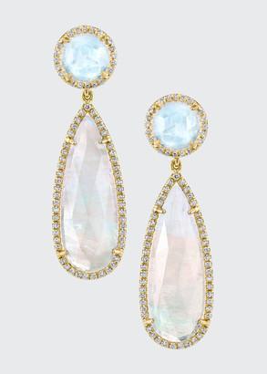Irene Neuwirth 18k Yellow Gold Moonstone Drop Earrings