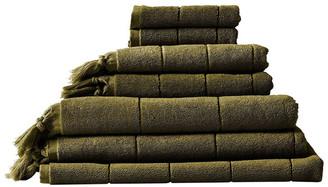 Aura Home Paros Bath Towel Set - Khaki Khaki Bath