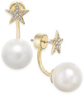 Kate Spade Star Quality Gold-Tone Imitation Pearl Earring Jackets