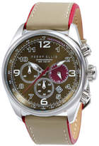 Perry Ellis GT Chrono Olive Leather Watch