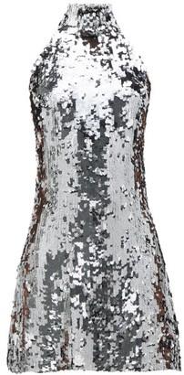 Galvan Gemma Sequinned Chiffon Dress - Silver