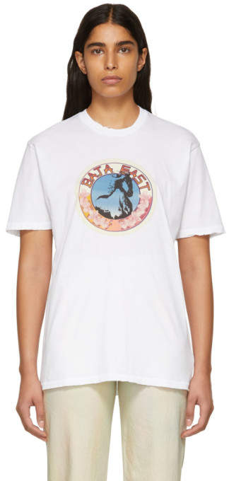 Baja East White Stallion Medallion T-Shirt