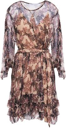 IRO Jolly Tiered Ruffled Crepon Mini Dress