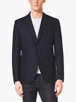 Michael Kors Cotton And Linen Two-Button Blazer