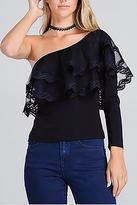 Valentine Lace One Shoulder Top
