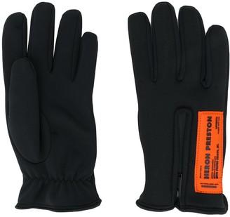 Heron Preston Logo-Patch Gloves