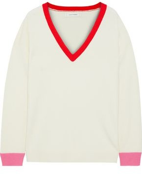 Chinti and Parker Chinti & Parker Color-block Wool And Cashmere-blend Sweater