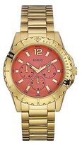 GUESS Coral and Gold-Tone High-Energy Watch