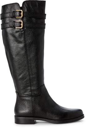 Franco Sarto Black Christoff Leather Knee-High Boots