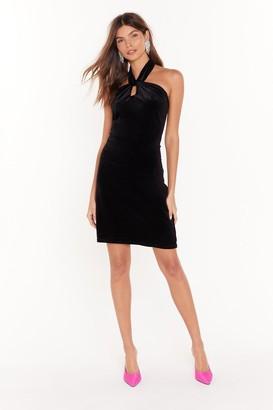 Nasty Gal Womens Let Me Hear You Halter Neck Mini Dress - Black