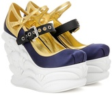 Miu Miu Platform satin pumps