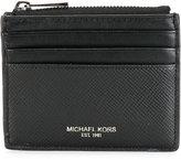Michael Kors logo print cardholder - men - Leather - One Size
