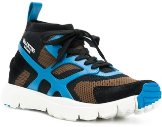Valentino Panelled Sneakers Multicolor