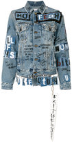 Faith Connexion grafitti denim jacket