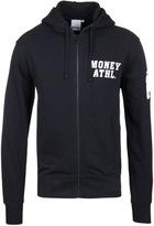 Money Navy Athletic Zip Through Hooded Sweatshirt