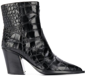 Kate Cate Jett crocodile boots