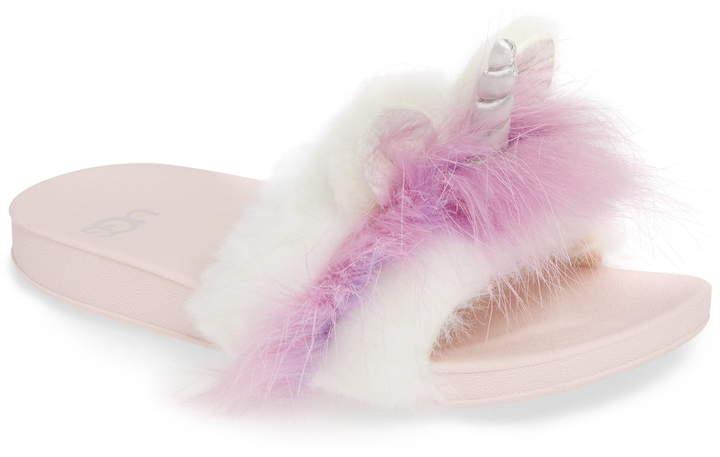 511ed70e1251 Kids Fur Slides - ShopStyle