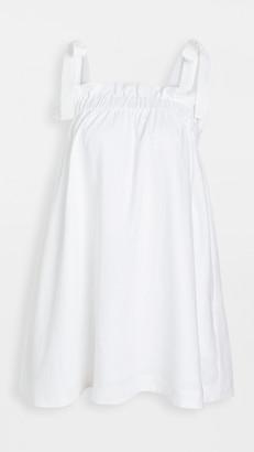 Aje Allegro Gathered Tie Mini Dress