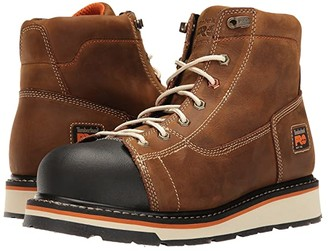 Timberland Gridworks 6 Soft Toe Boot (Brown Full-Grain Leather) Men's Work Boots