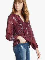 Lucky Brand Button Down Paisley Peasant