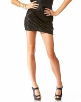 Scattered Sequin Mini Skirt