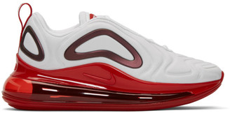 Nike White and Red Air Max 720 SE Sneakers