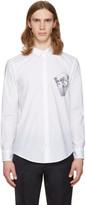 MSGM White Skateboarder Shirt