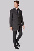 Moss Bros Slim Fit Grey Textured Overcoat
