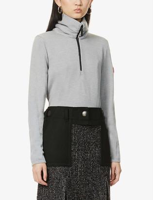 Canada Goose Fairhaven zip-front wool-blend jumper