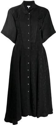 Loewe Feather Printed Shirt Dress