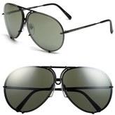 Porsche Design 'P8478' 66mm Aviator Sunglasses