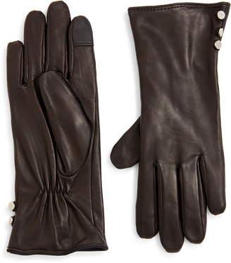 ZZDNU Lauren Lauren Leather Touchscreen Gloves