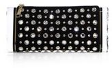 Edie Parker Soft Lara Crystal-Studded Suede Clutch